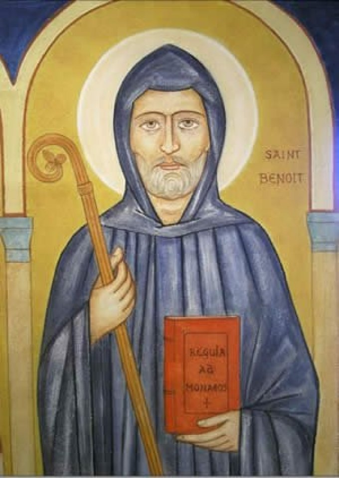 Le 11 juillet : Saint Benoît de Nursie