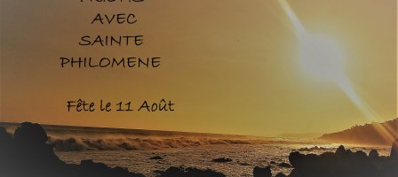 Prions avec Sainte Philomène