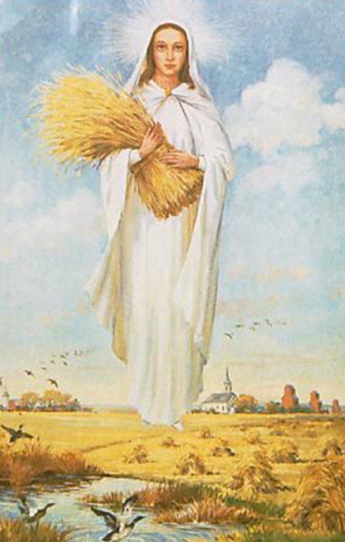 18 octobre, cinquième mystère glorieux: la glorification de Marie