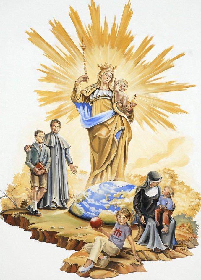 """""""Aimez, honorez, servez Marie. Faites-la connaître, aimer et honorer"""" J.Bosco"""