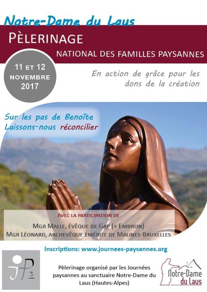 Un pèlerinage pour le monde agricole - Sanctuaire ND du Laus - 11/12 nov 2017