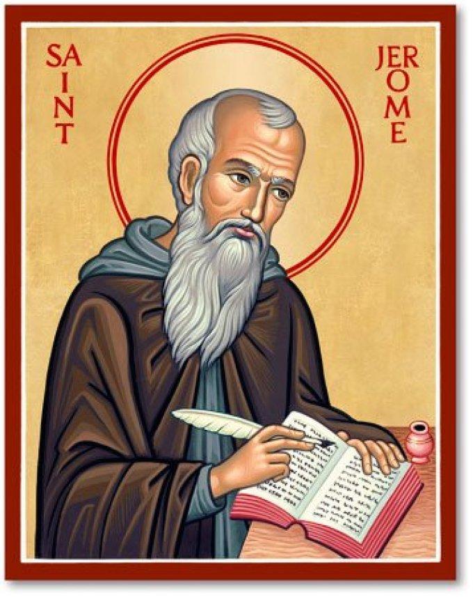 Le 30 septembre ; Saint Jérôme