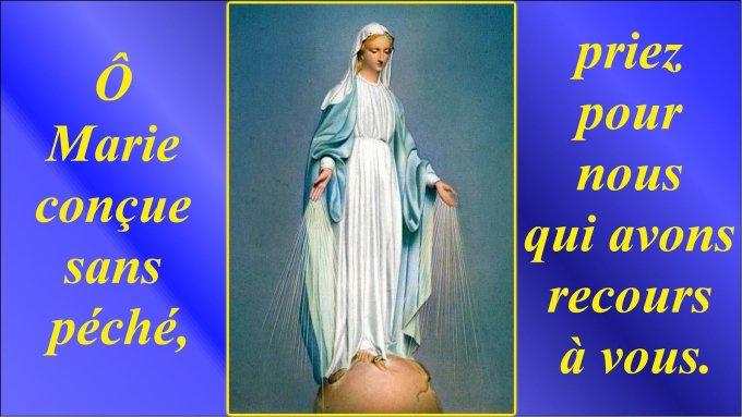 J 2 - Neuvaine à Notre-Dame de la Médaille Miraculeuse