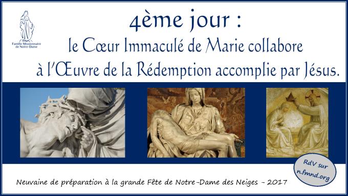 4e jour – lundi 11 décembre 2017 : Marie collabore à l'Œuvre de la Rédemption