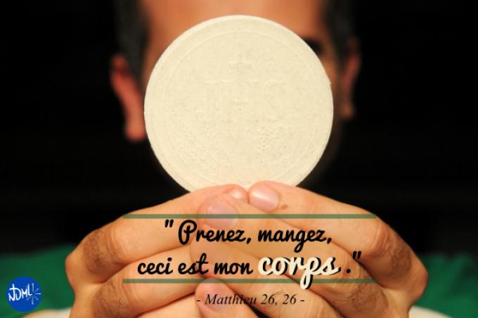 Jeudi Saint : Il s'est fait si petit dans l'Eucharistie.