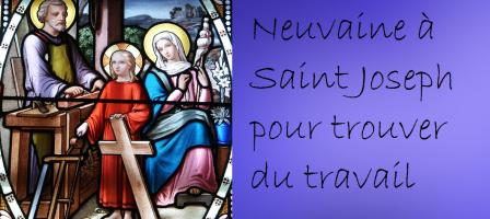 Neuvaine à Saint Joseph ouvrier pour un travail