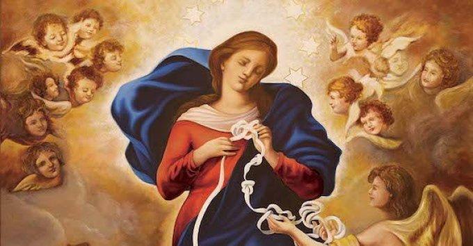 """Prière à Marie qui défait les """"noeuds"""""""