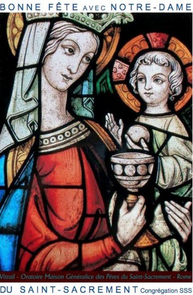 Marie au Cénacle, Mère & Adoratrice : Notre-Dame du Saint-Sacrement