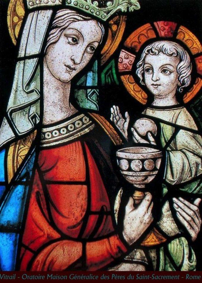 La sainte Vierge devient donc notre mère pour l'Eucharistie