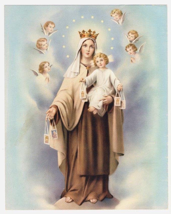 La dévotion à la très Sainte Vierge, exprimée par l'humble signe du Scapulaire