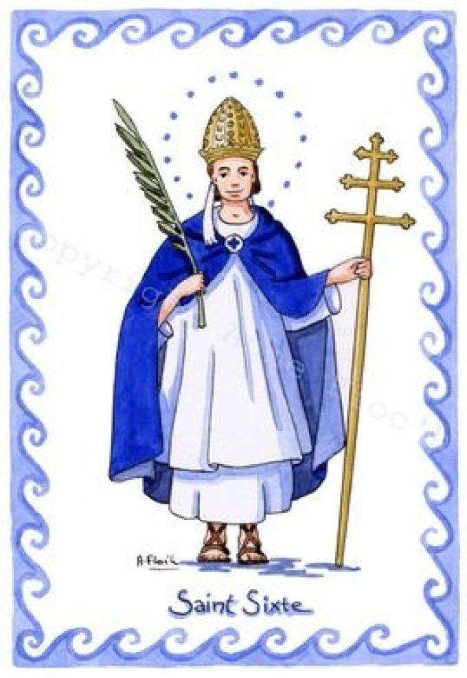 Le 6 août : Saint Sixte II
