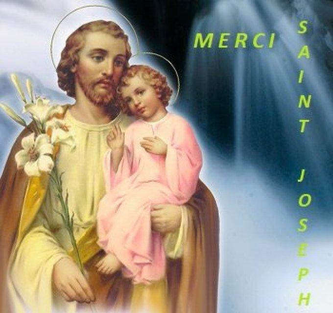 Merci Bon Saint Joseph