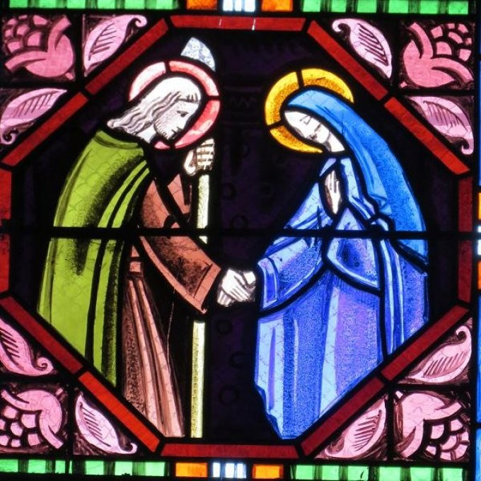 Saint Joseph, qui avait été choisi pour être l'époux de Marie, priez pour nous