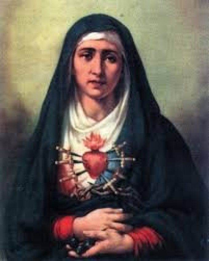 Prions le Chapelet des Sept Douleurs de la Très Sainte Vierge Marie