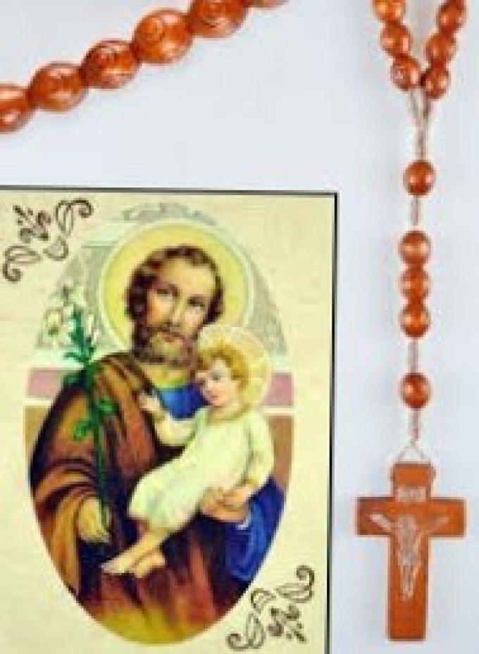 Prions avec le Chapelet du cœur très pur de saint Joseph