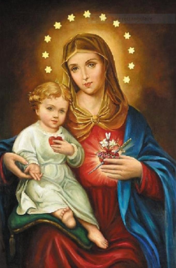 Sainte Marie, Mère de Dieu, priez pour nous....et à l'heure de notre mort.