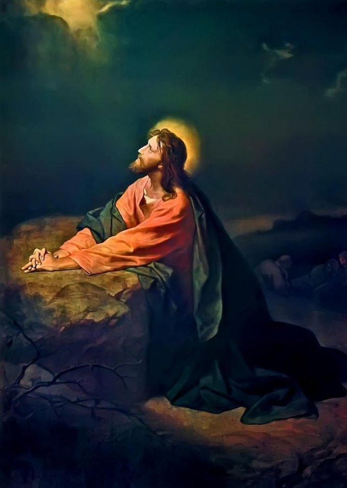 Les mystères douloureux : L'agonie de Jésus au jardin des Oliviers