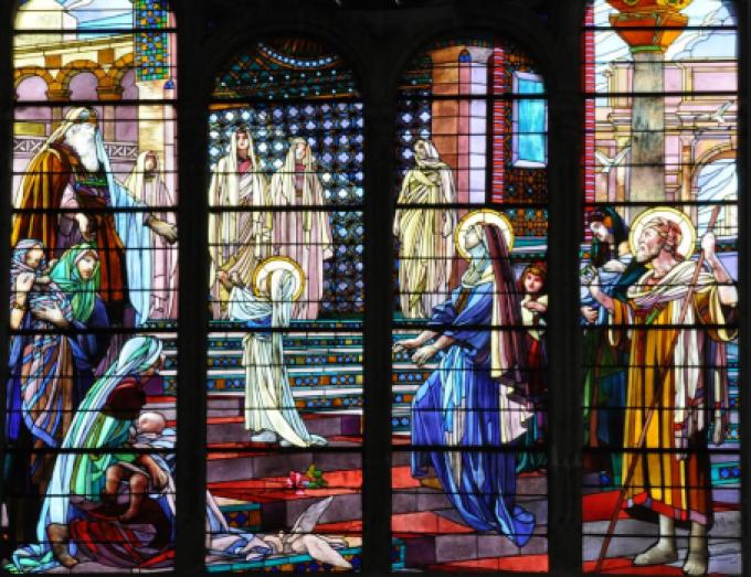 Fête de la présentation de Notre Dame au temple.