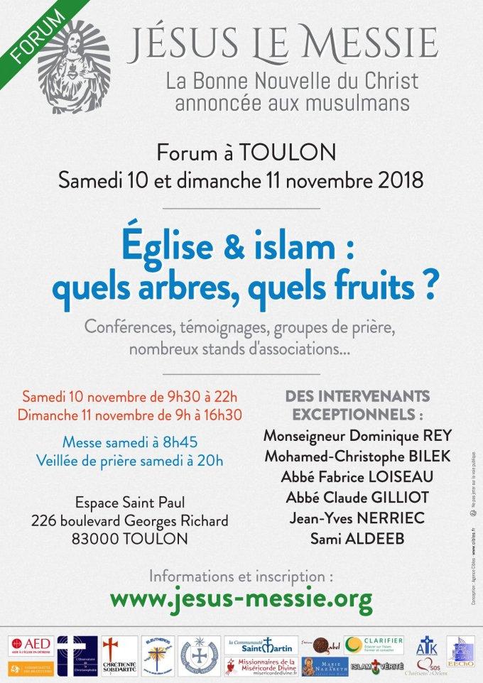 Forum - La Bonne Nouvelle du Christ annonnée aux musulmans à Toulon