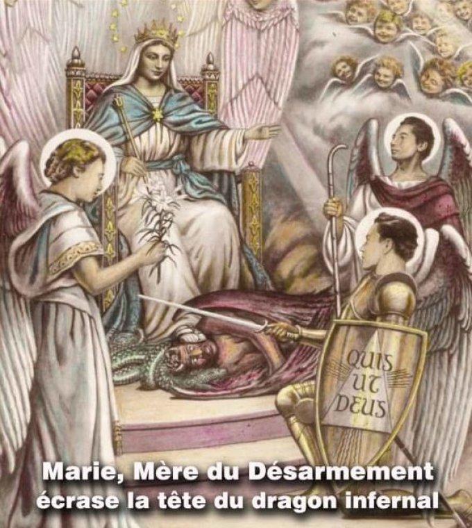 Prions avec Marie, Mère du Désarmement pour notre Archevêque