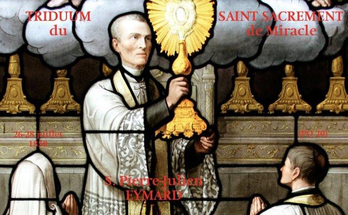 Triduum du Saint Sacrement de Miracle : Récapitulation complète
