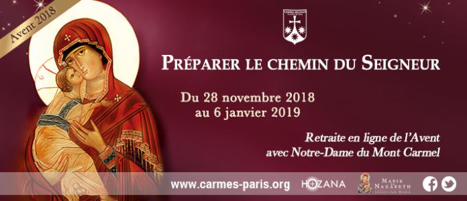 J-6 Préparons le chemin du Seigneur avec Notre-Dame du Mont Carmel