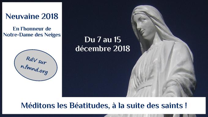 Présentation de la neuvaine à Notre-dame des Neiges 2018