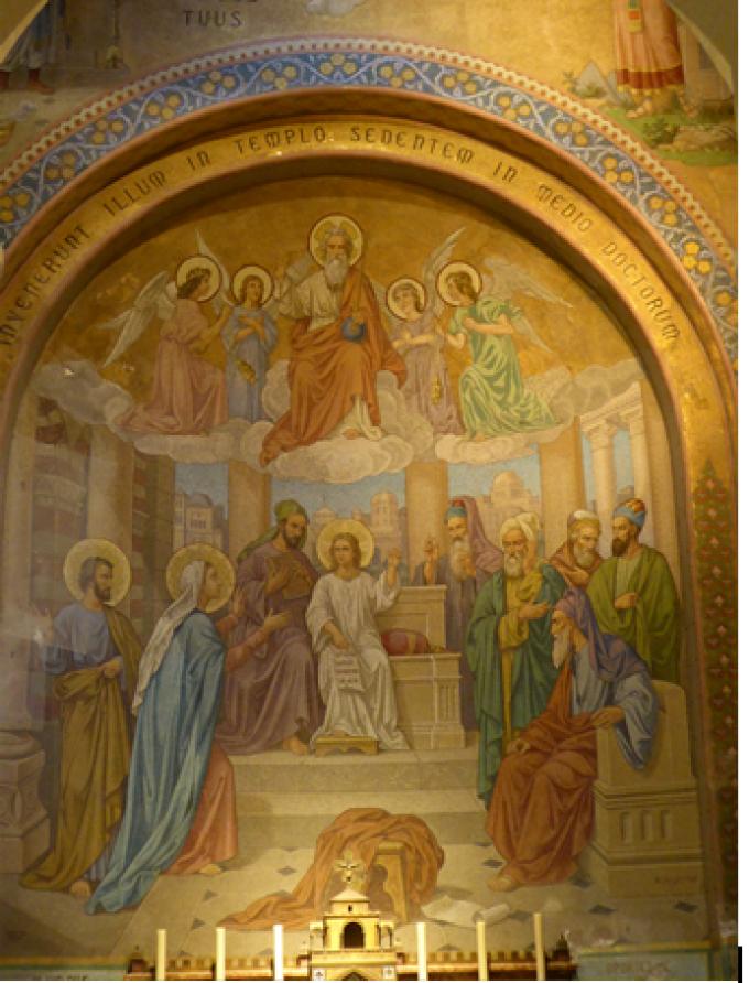 Le Rosaire ........Le Recouvrement de l'Enfant Jésus au temple.