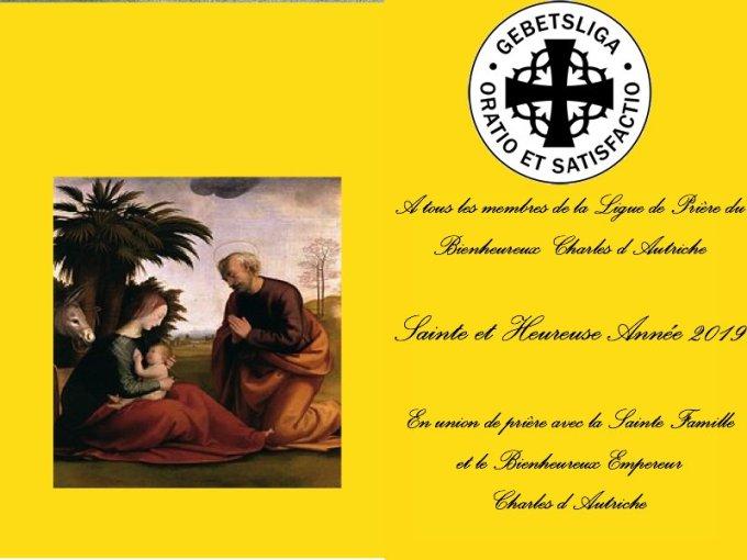 1 janvier 2019 - En cette solennité de la Vierge Marie, Mère de Dieu