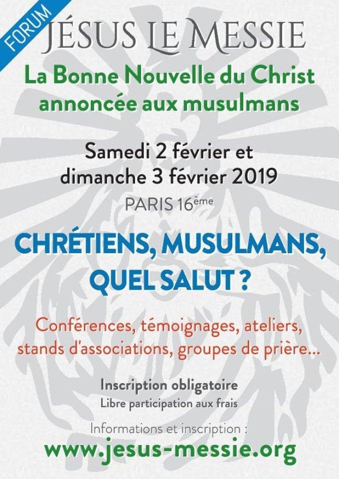 Forum - La Bonne Nouvelle du Christ annonnée aux musulmans à Paris