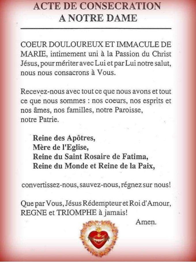Acte de consécration à Notre Dame