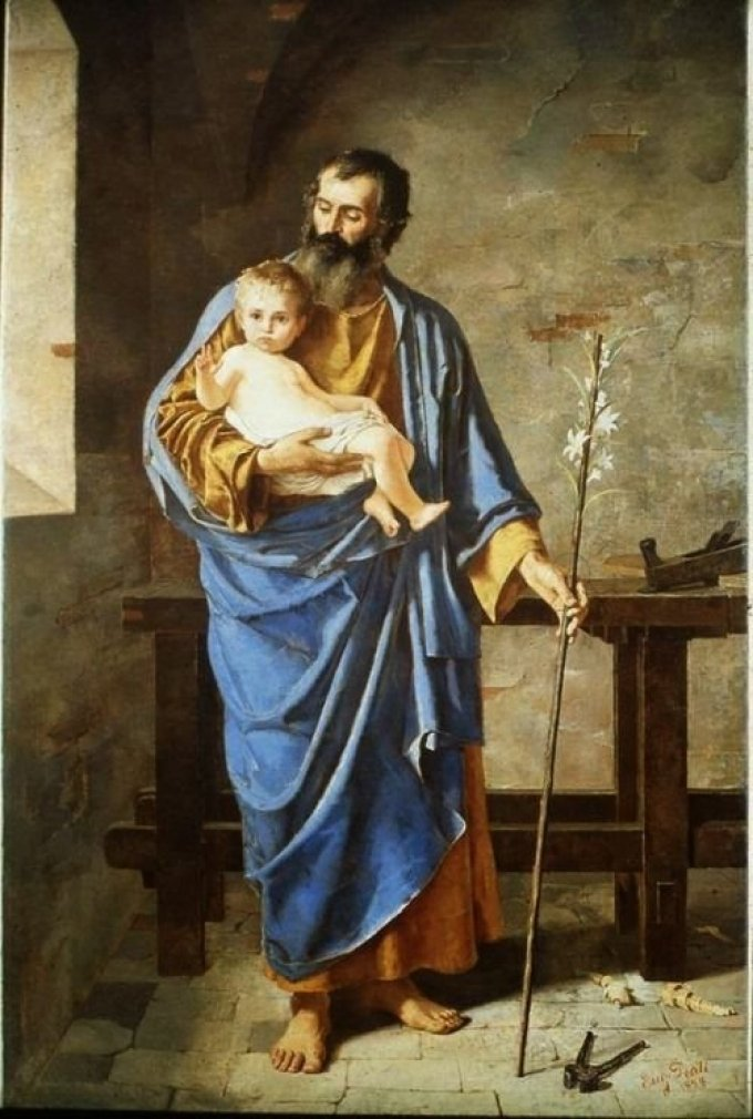 Saint Joseph, qui avez été affermi en grâce, priez pour nous