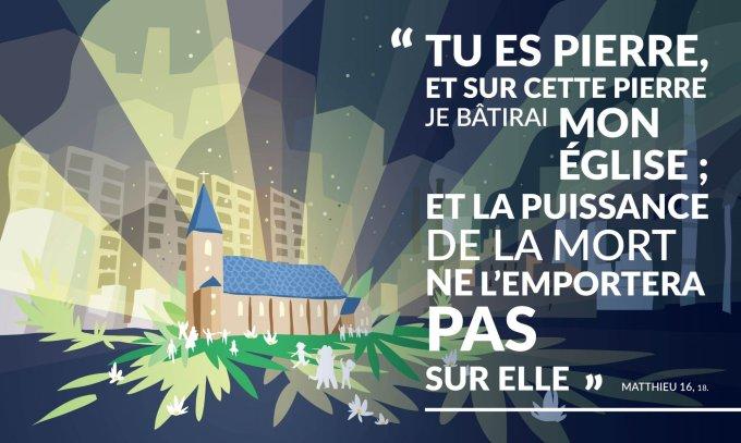 Tu es Pierre, et sur cette pierre je bâtirai mon Église
