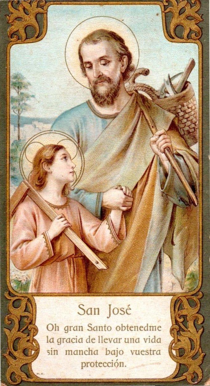 Saint Joseph, père nourricier de l'Enfant Jésus, priez pour nous