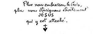 [PRIERE] Prier avec le Frère Charles De Foucauld - Page 2 Foucauld_ecrit_croix2