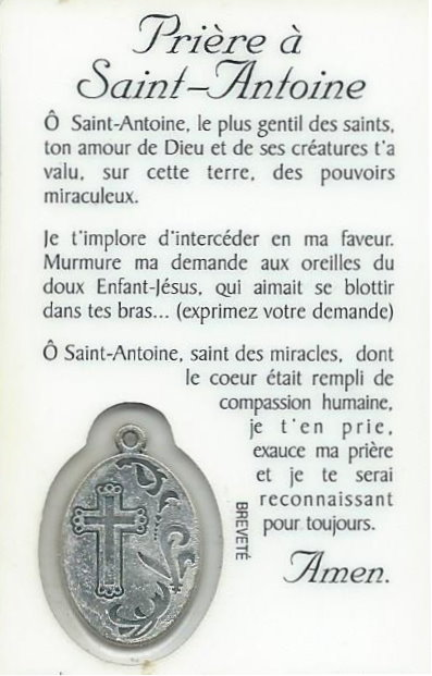 Top Prière à St Antoine - Hozana YS19