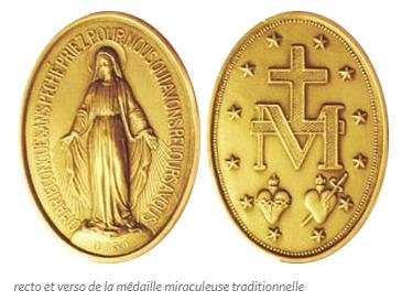Tableau poétique des fêtes chrétiennes - Vicomte Walsh - 1843 - (Images et Musique chrétienne) M%C3%A9daille_miraculeuse