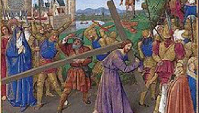 18 juin, quatrième mystère douloureux: Le portement de La Croix