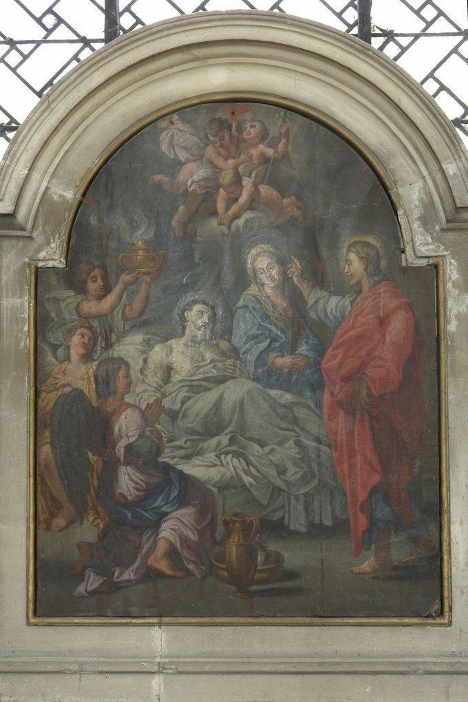 Saint Joseph, qui avez expiré entre les bras de Jésus-Christ, priez pour nous