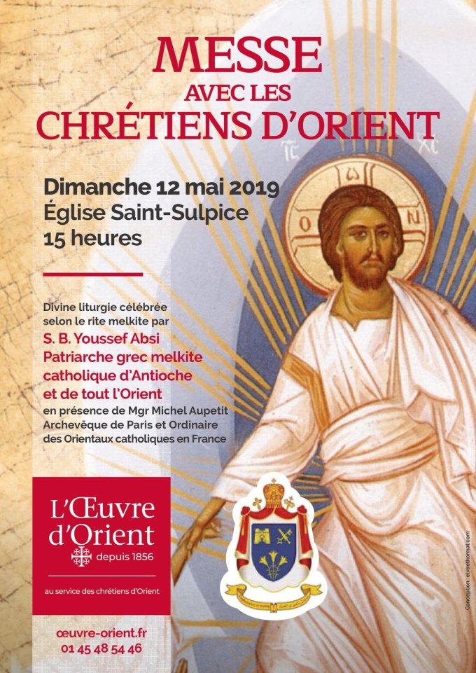 Messe annuelle de l'Œuvre d'Orient à Paris - dimanche 12 mai à 15h