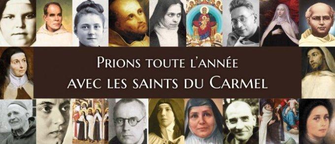 Prions toute l'année avec les saints du Carmel !