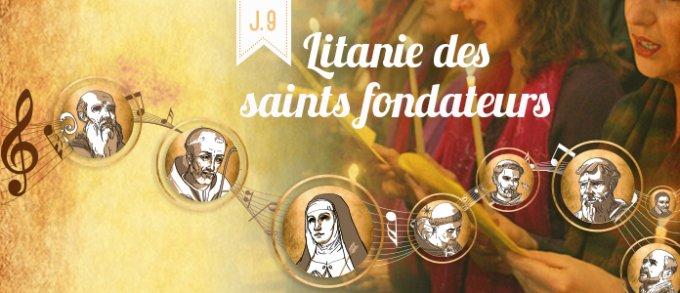 9ème jour : Litanie des saints, en action de grâce pour tous les saints fondateurs