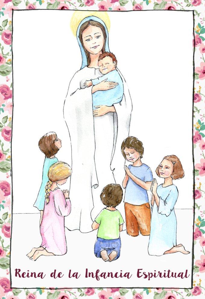 Descargarte la estampa para empezar a difundir la ternura de María