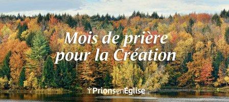Prions une fois par semaine pour la Création !