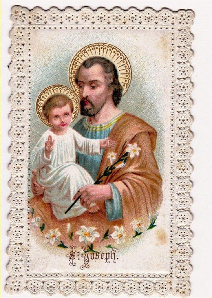 Saint Joseph, qui étes récompensé au ciel d'une gloire, priez pour nous