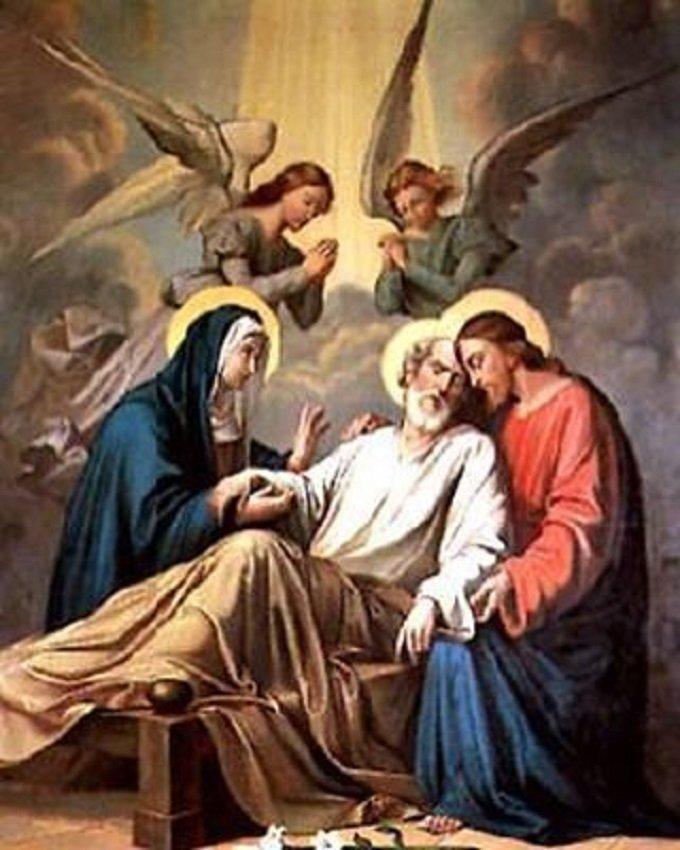 Saint Joseph, qui avez expiré entre les bras de Jésus, priez pour nous