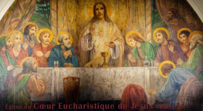 Le cœur de Jésus instituant l'Eucharistie (II)