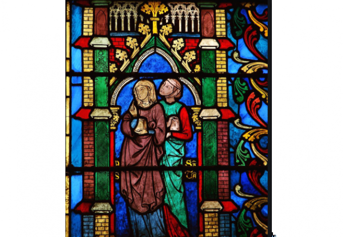 Elle était debout, la Mère, malgré sa douleur, en larmes, près de la croix