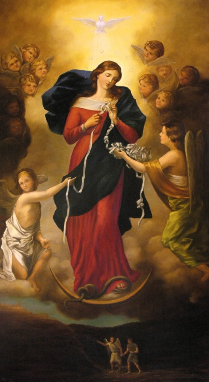 Notre Dame qui défait les noeuds pour nos évêques 5ème jour