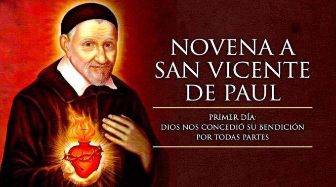 NOVENA A SAN VICENTE DE PAÚL (PRIMER DÍA)